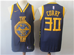 Golden State Warriors #30 Stephen Curry 2018/19 Navy City Edition Swingman Jersey