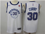 Golden State Warriors #30 Stephen Curry Throwback White Jersey