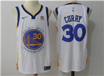 Golden State Warriors #30 Stephen Curry 2017/18 White Jersey