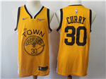 Golden State Warriors #30 Stephen Curry 2018/19 Yellow Earned Edition Swingman Jersey