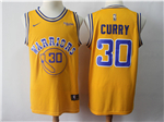 Golden State Warriors #30 Stephen Curry Gold Throwback Swingman Jersey