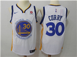 Golden State Warriors #30 Stephen Curry 2017/18 White Swingman Jersey