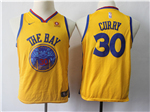 Golden State Warriors #30 Stephen Curry Youth Gold City Edition Swingman Jersey