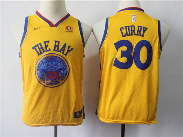 stephen curry yellow jersey youth