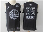 Golden State Warriors #35 Kevin Durant Black 2018 All-Star Game Swingman Jersey