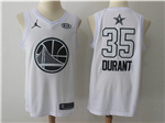 Golden State Warriors #35 Kevin Durant White 2018 All-Star Game Swingman Jersey