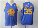 Golden State Warriors #35 Kevin Durant 2017/18 Youth Blue Swingman Jersey