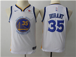 Golden State Warriors #35 Kevin Durant 2017/18 Youth White Swingman Jersey