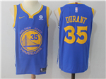 Golden State Warriors #35 Kevin Durant 2017/18 Blue Jersey