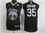 Golden State Warriors #35 Kevin Durant 2017/18 Black Jersey