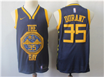 Golden State Warriors #35 Kevin Durant 2018/19 Navy City Edition Swingman Jersey