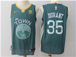 Golden State Warriors #35 Kevin Durant 2017/18 Teal Jersey