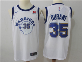 Golden State Warriors #35 Kevin Durant Throwback White Swingman Jersey