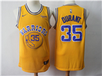 Golden State Warriors #35 Kevin Durant Gold Throwback Swingman Jersey