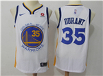 Golden State Warriors #35 Kevin Durant White Swingman Jersey