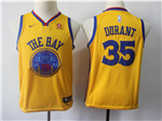 Golden State Warriors #35 Kevin Durant Youth Gold City Edition Swingman Jersey