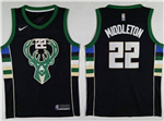 Milwaukee Bucks #22 Khris Middleton 2017/18 Black Swingman Jersey
