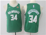 Milwaukee Bucks #34 Giannis Antetokounmpo 2017/18 Youth Green Jersey