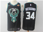 Milwaukee Bucks #34 Giannis Antetokounmpo Black Swingman Jersey