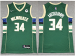 Milwaukee Bucks #34 Giannis Antetokounmpo Green Swingman Jersey