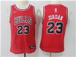 Chicago Bulls #23 Michael Jordan 2017/18 Youth Red Jersey