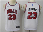 Chicago Bulls #23 Michael Jordan 2017/18 Youth White Jersey