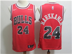 Chicago Bulls #24 Lauri Markkanen 2017/18 Red Swingman Jersey