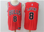 Chicago Bulls #8 Zach LaVine 2017/18 Red Jersey