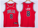 Chicago Bulls #8 Zach LaVine Red Swingman Jersey