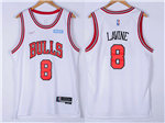 Chicago Bulls #8 Zach LaVine White Swingman Jersey