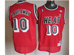 Miami Heat #10 Tim Hardaway Red Hardwood Classic Jersey