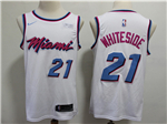 Miami Heat #21 Hassan Whiteside 2017/18 White City Edition Swingman Jersey