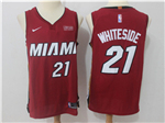 Miami Heat #21 Hassan Whiteside Red Authentic Jersey