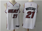 Miami Heat #21 Hassan Whiteside White Swingman Jersey