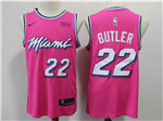 Miami Heat #22 Jimmy Butler Pink Earned Edition Swingman Jersey