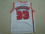 Miami Heat #33 Alonzo Mourning White Hardwood Classic Jersey
