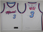 Miami Heat #3 Dwyane Wade 2017/18 White City Edition Swingman Jersey