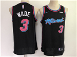 Miami Heat #3 Dwyane Wade 2018/19 Black City Edition Swingman Jersey