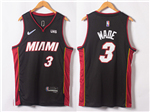 Miami Heat #3 Dwyane Wade Black Swingman Jersey