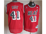 Miami Heat #41 Glen Rice Red Hardwood Classic Jersey