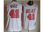 Miami Heat #41 Glen Rice White Hardwood Classic Jersey