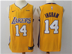 Los Angeles Lakers #14 Brandon Ingram 2017/18 Gold Authentic Jersey
