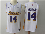 Los Angeles Lakers #14 Brandon Ingram 2017/18 White Authentic Jersey