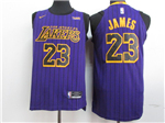 Los Angeles Lakers #23 Lebron James 2018/19 Purple City Edition Anthentic Jersey
