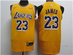 Los Angeles Lakers #23 Lebron James 2018/19 Gold Authentic Jersey