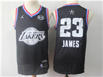 Los Angeles Lakers #23 Lebron James Black 2019 All-Star Game Swingman Jersey