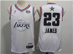 Los Angeles Lakers #23 Lebron James White 2019 All-Star Game Swingman Jersey