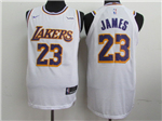 Los Angeles Lakers #23 Lebron James 2018/19 White Authentic Jersey