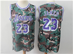 Los Angeles Lakers #23 Lebron James Camo Hardwood Classic Jersey