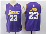 Los Angeles Lakers #23 Lebron James 2017/18 Youth Purple Swingman Jersey